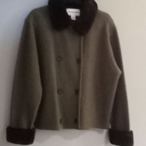 Picket and Smith wool blend cropped jacket